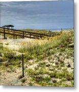 Dunes At Tybee Island Metal Print