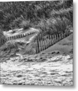 Dunes In Black And White Metal Print