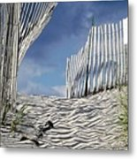 dunes in RI Metal Print