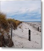 Dunes On A Blustery Day Metal Print