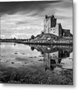 Dunguaire Castle In Black And White Metal Print