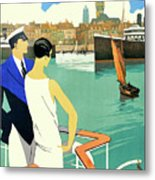 Dunkirk City, View From The Tourist Boat Metal Print