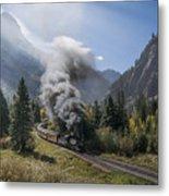 Durango And Silverton Train At Elk Park Wye Metal Print