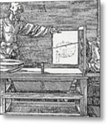 Durers Perspective Drawing Of A Lute Metal Print