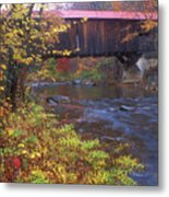 Durgin Covered Bridge Sandwich Metal Print