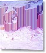 During The Snow Fall 35 Metal Print