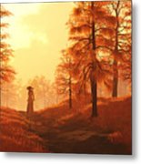 Dusk Approaches In Sleepy Hollow Metal Print