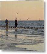 Dusk At The Beach Metal Print