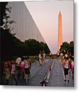 Dusk At The Viet Nam Veterans Memorial Metal Print