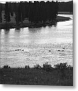 Dusk At The Yellowstone River Metal Print