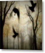 Dusk Begins As The Crows Fly Metal Print