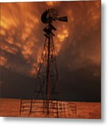 Dusk Down At The Mill Metal Print
