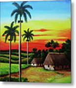Dusk In A Cuban Countryside Metal Print
