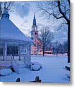 Dusk In Templeton Metal Print by Susan Cole Kelly