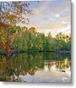 Dusk On Autumn Lake  Metal Print