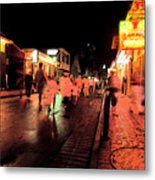 Dusk On Bourbon Street  Metal Print