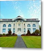 Dusk On Pacific County Historical Courthouse  Metal Print