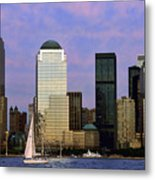 Dusk On Lower Manhattan Metal Print