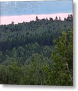 Dusk On The Hill Metal Print