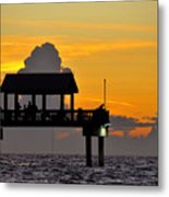 Dusk Over The Gulf Metal Print