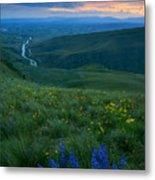 Dusk Over The Yakima Valley Metal Print