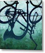 Dusk Shadows - Bicycle Art Metal Print
