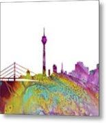Dusseldorf Skyline 3 Metal Print