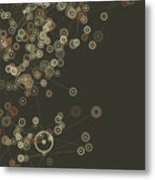 Dust Digital Branch Pattern Metal Print