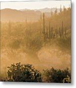 Dust Storm In The Desert Metal Print