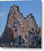 Dusted Mountain Metal Print