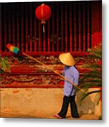 Dustiing The Windows At The Temple Of Literature Metal Print