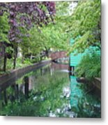 Dutch Canal Metal Print