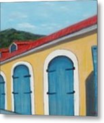 Dutch Doors Of St. Thomas Metal Print