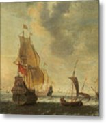 Dutch Ships In A Lively Breeze Metal Print