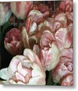 Dutch Tulips Dutch Tile Metal Print