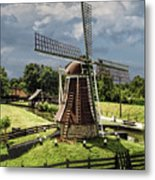 Dutch Windmill Near The Zuider Zee Metal Print