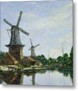 Dutch Windmills Metal Print by Eugene Louis Boudin