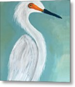 Dutchess Egret Art By Brenda Boss Metal Print