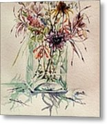 Dying Meadow Metal Print