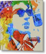 Dylan Watercolor Metal Print