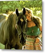 Dylly And Lizzy Metal Print