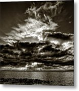 Dynamic Sunset - Sepia Metal Print