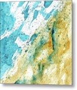 Dynamics Of Water Metal Print
