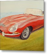 E-type Jaguar Metal Print