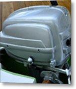 Vintage Silver Outboard Boat Motor Metal Print