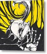 Eagle And Bear Metal Print