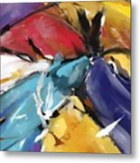 Eagle And Doves Abstract 1510 Metal Print