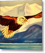 Eagle And Mountains Metal Print