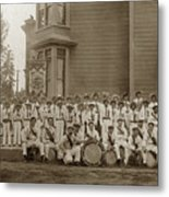 Eagle Band's Drum Corps. Native Sons Of The Golden West  Circa 1908 Metal Print