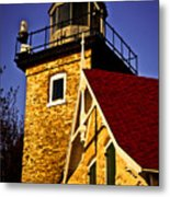 Eagle Bluff Lighthouse Of Door County Metal Print by Mark David Zahn